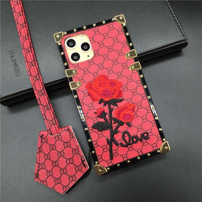 Rose Embroidery Case