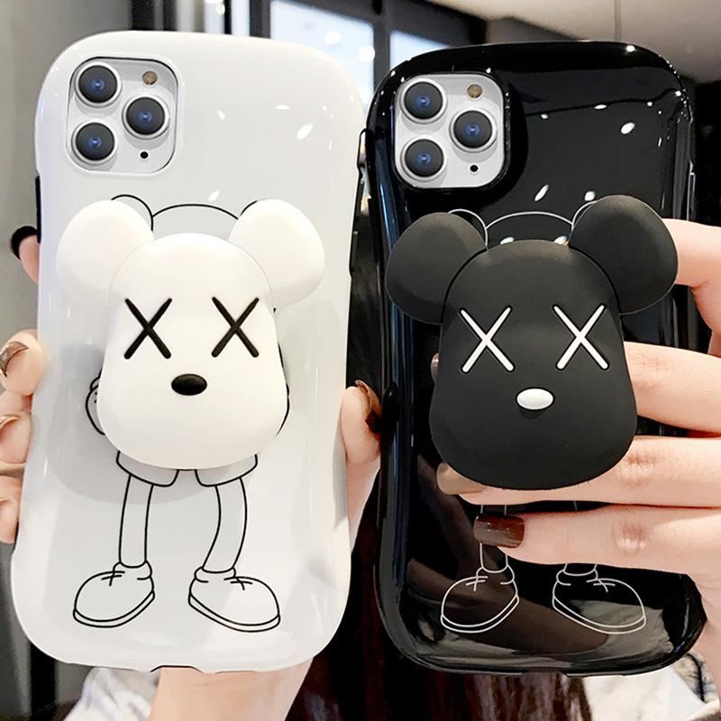 Cute Bear Silicone Phone Case With Phone Holder