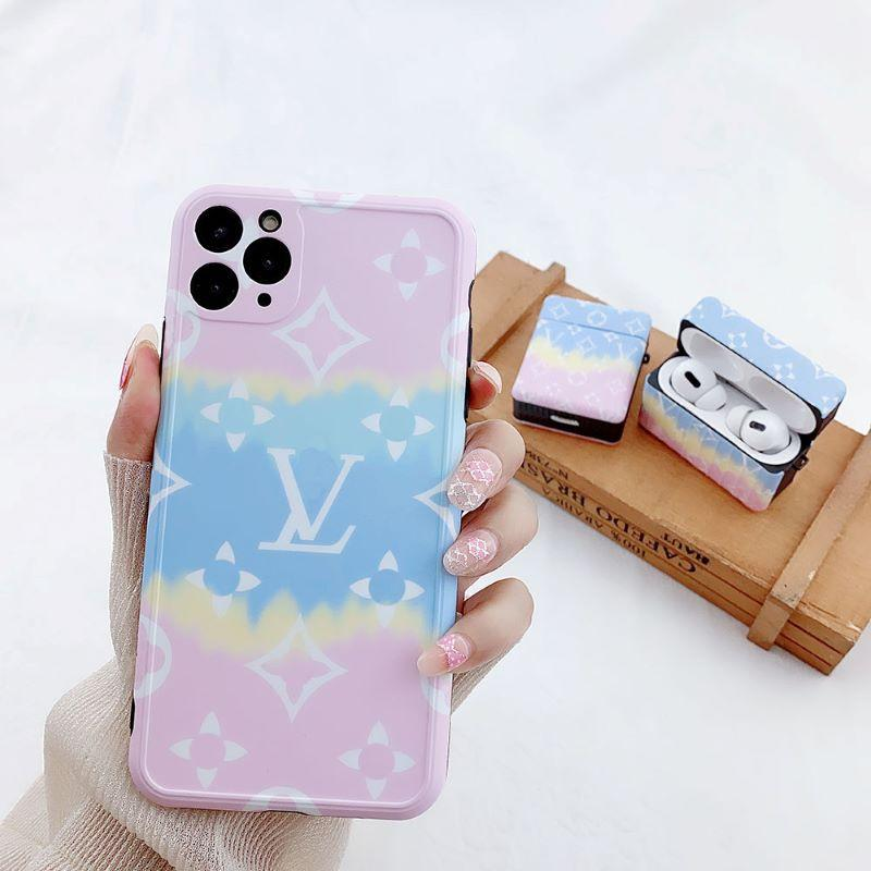Fashion Flower Pattern Phone Case +Airpods Case