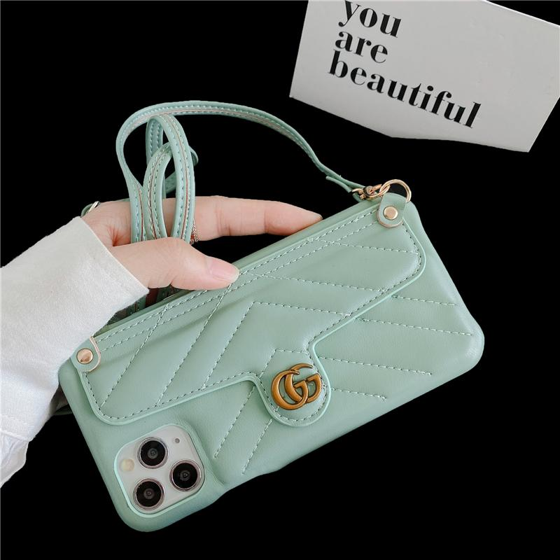 Fashion Crossbody Genuine Leather Phone Case Wallet Case