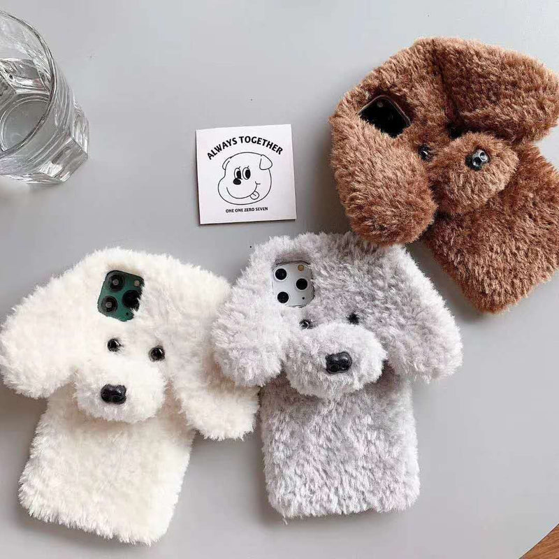 Lovely Animal Shape Plush Phone Case