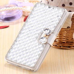 Luxury shiny wallet phone case