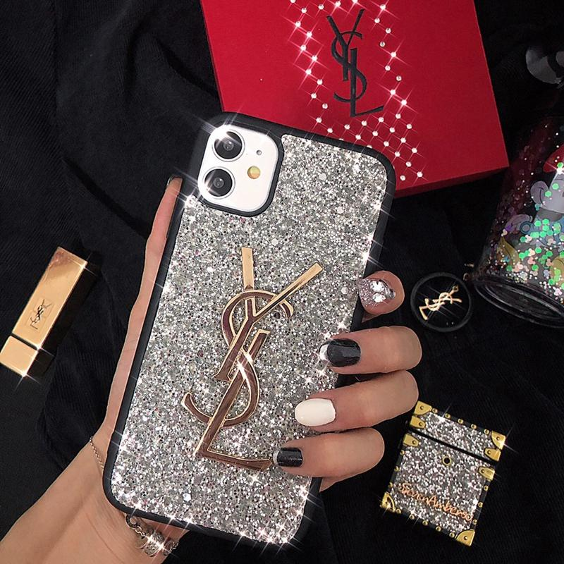 New Luxury YSL Flash Diamond Phone Case