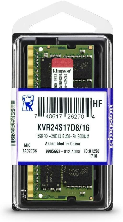 KINGSTON DDR 4 16 GB LAPTOP KVR24S17D8/16