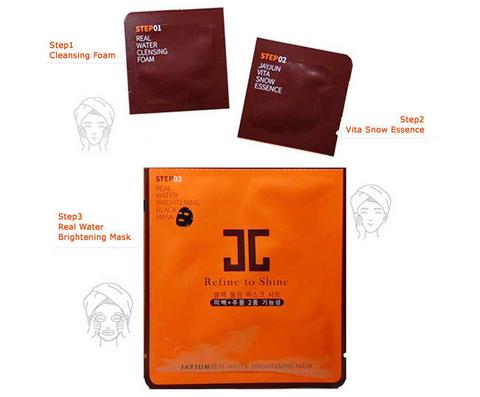 JAYJUN Real Water Brightening Black Mask 10 Sheets