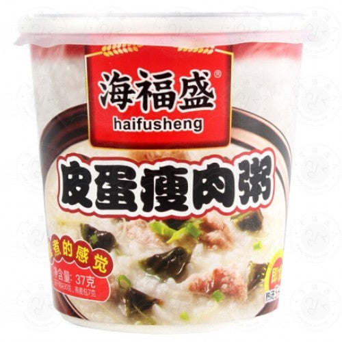 HAIFUSHENG Instant Porridge with Preserved Egg and Lean Meat 37g