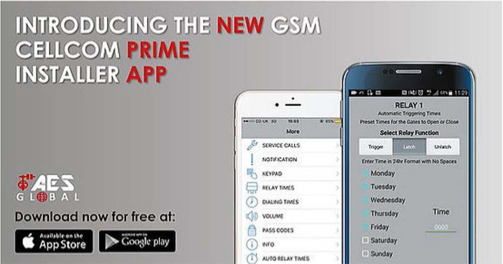 Neue GSM Cellcom Prime Installer App - AES Global