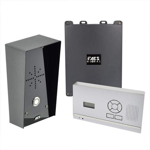 AES 603 HF IMPDECT Wireless Door Phone (Imperial Hooded Callpoint) Hands-Free Wall / Desk Mount - AES Global