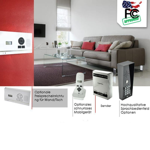 AES 603 Wireless Intercom System (Stainless Steel) (Flush Callpoint) - AES Global