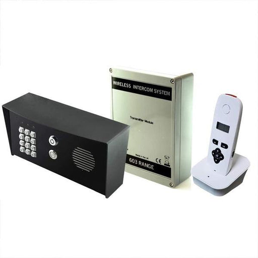 AES 603 DECT HF IMPK Wireless door intercom (Imperial Hooded Callpoint) with keypad. Hands-free wall / desk mount - AES Global
