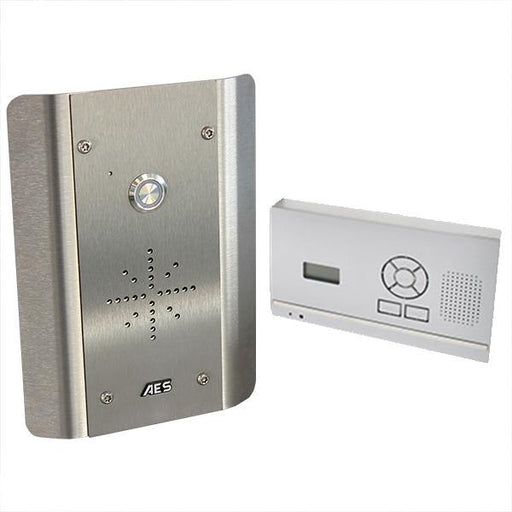 AES 603 DECT AS HF wireless intercom architecture kit (made entirely of stainless steel) audio handset for wall / desk mounting - AES Global
