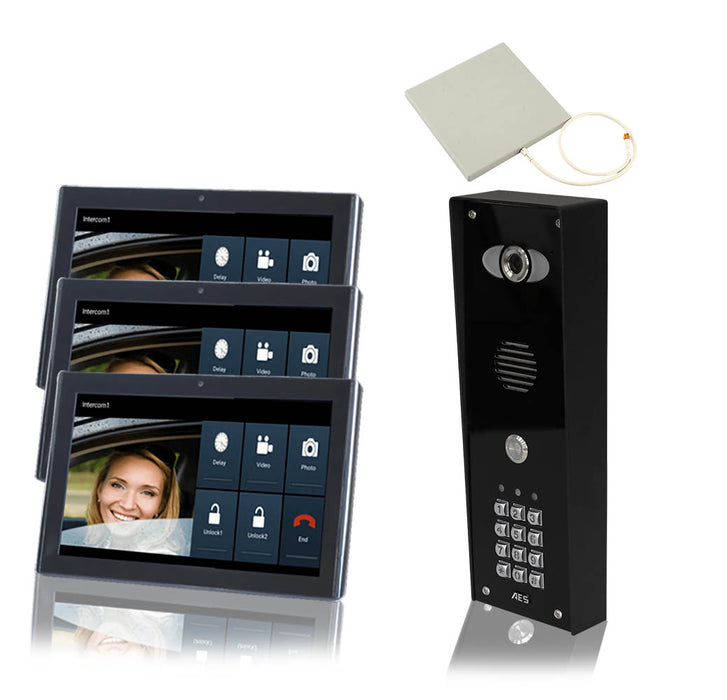 PRED2 WIFI IMPK mit Tastatur - Architektur WiFi Intercom für Monitor 1 - 4 Marine Grade Black Panel,