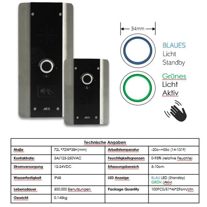 AES 603 PX ABK Wireless Intercom System (Architectural Keyboard Callpoint) med Prox Reader - AES Global