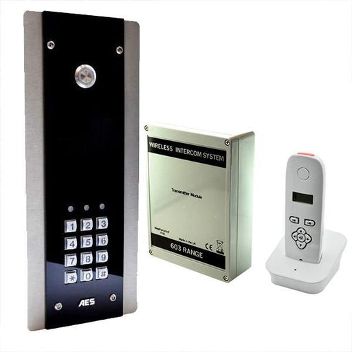 AES 603 DECT FBK Kit Wireless intercom system (Flush Callpoint) with audio handset for wall / desk mounting on the keyboard. - AES Global