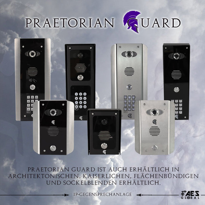 Praetorian Guard AB 4G-Video-Intercom-System schwarzes Architekturfinish mit Tastatur