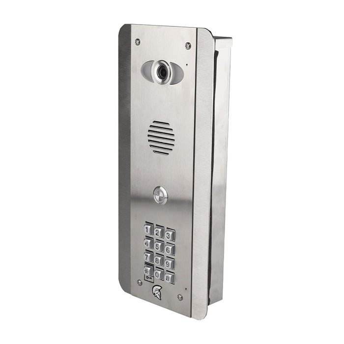 Praetorian Guard ASK IP video intercom (marine grade stainless steel with black acrylic coating)