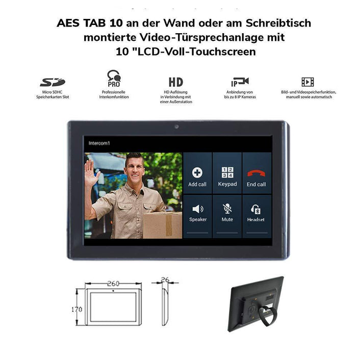 AES PRE2-4GE/IMP | Imperial 1 Button GSM/4G Surface Video Entry Kit - AES Global