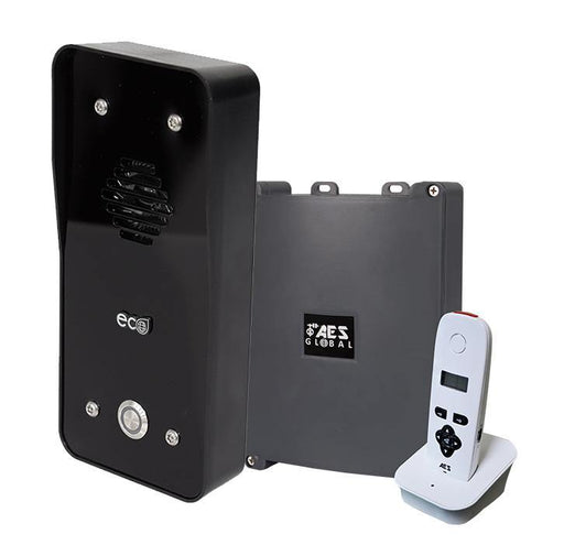 AES 603 DECT Eco Black Callpoint audio handset for wall / desk mounting - AES Global