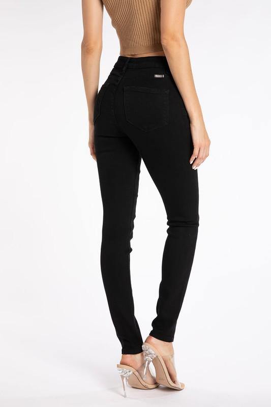 Gracie Black High Rise R&B Super Skinny Jeans