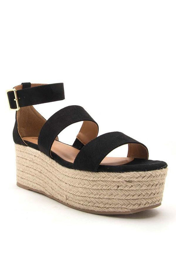 Evalyn Black 3 Band Sandal