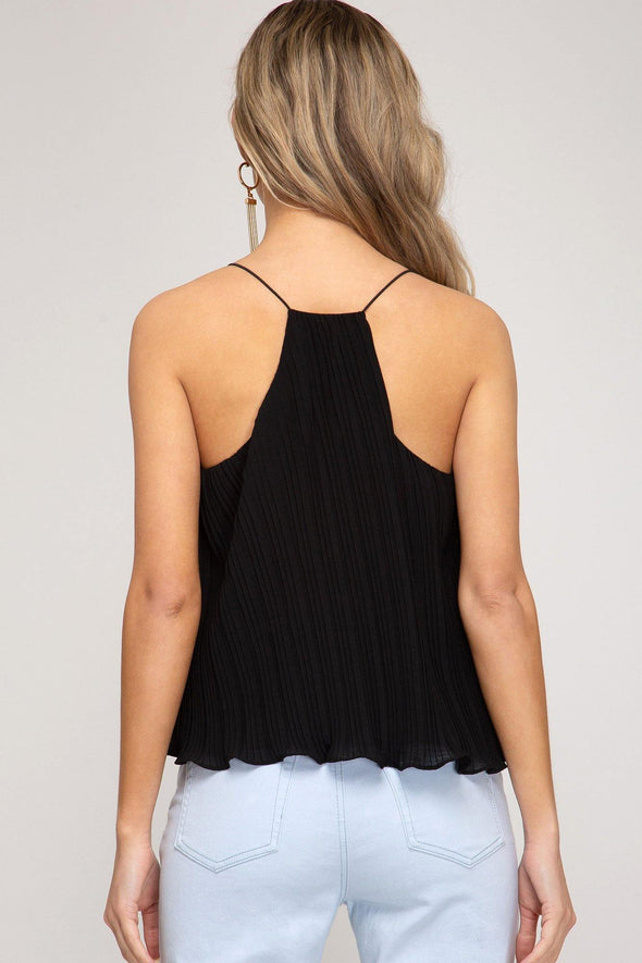 Retrograde Pleated Camisole - Identity Boutique