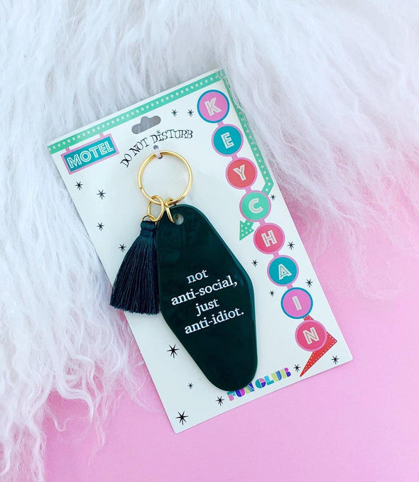 Not Anti Social Keychain - Identity Boutique