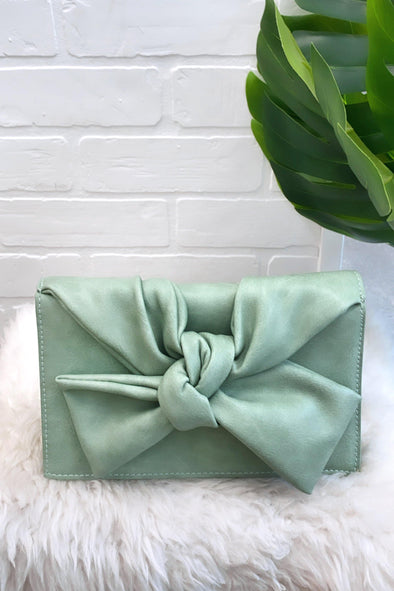 Bowed Up Fold Over Clutch