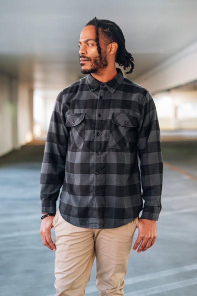 Lucas Blackout Flannel - Identity Boutique