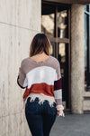 Melissa Color Block Sweater