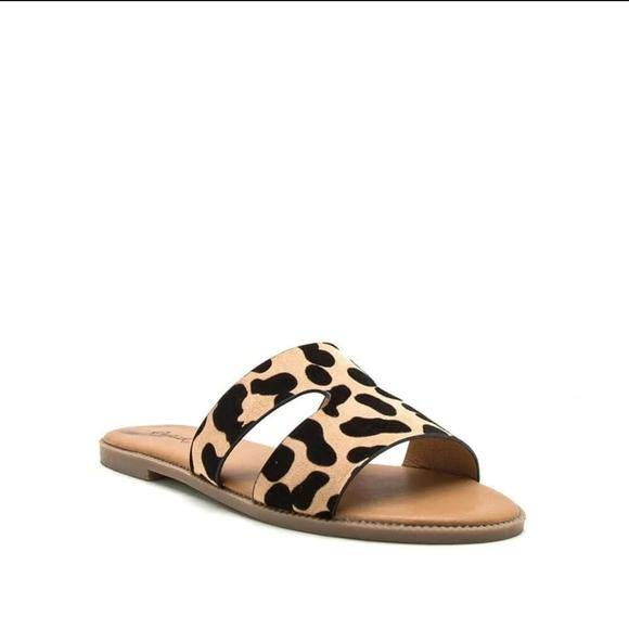 Daisy Leopard One Band Slides