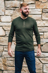 Dark Olive Thermal Henley