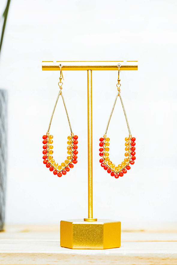 Flamey-O Beaded Earrings