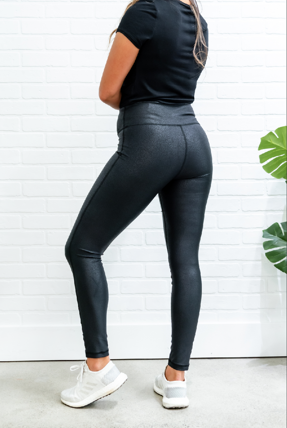 High-waisted Foil Scale Leggings