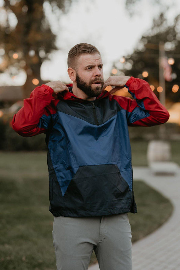 Blue/Red Windbreaker