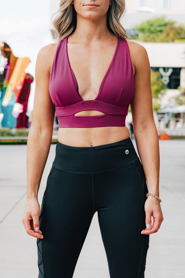 Sophia Wine Low Cut Sports bra