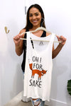 For Fox Sake White Plus Size Tank