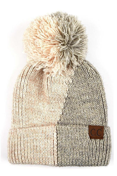 Halfsies Fleece Pom Beanie - Identity Boutique