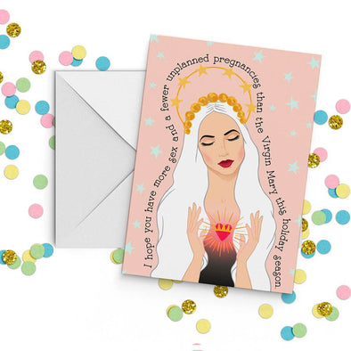 Virgin Mary Holiday Card