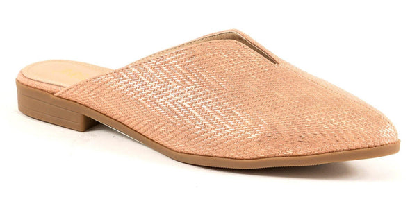 Bonita Dusty Rose Mules