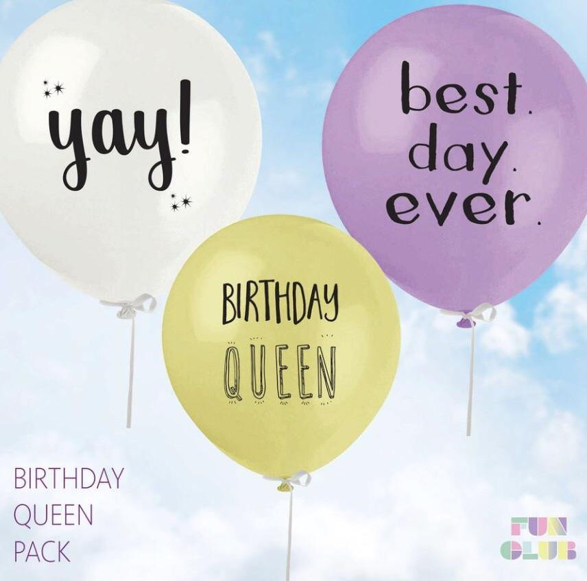 B Day Queen Balloon Pack (Pack Of 3)