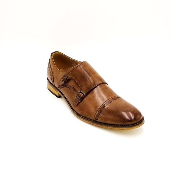 Caramel Monk Strap Shoes