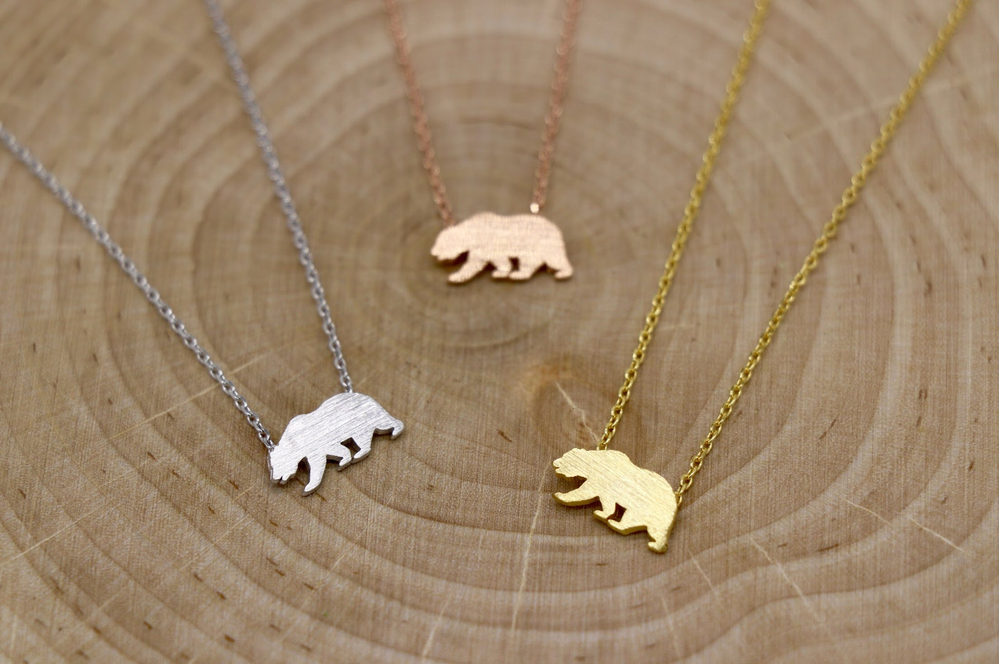 California Bear Charm Necklace