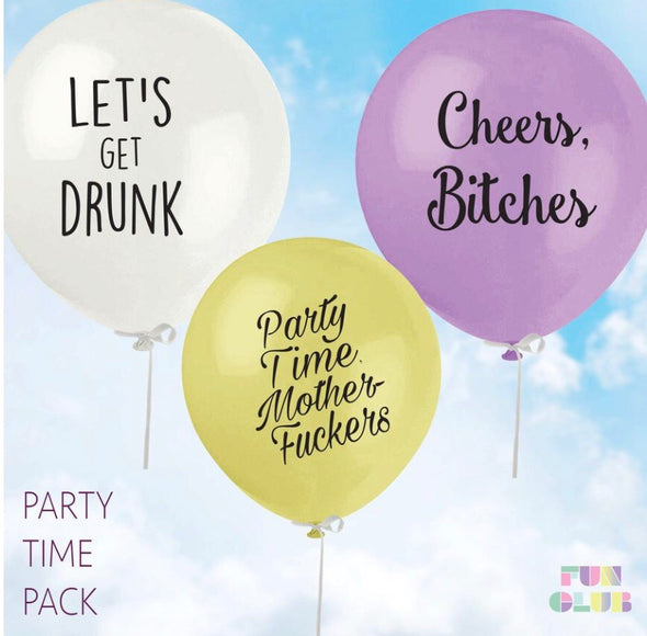 Party Time Balloon Pack (Pack Of 3)