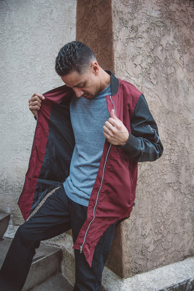 Maroon Sharp Cut Bomber