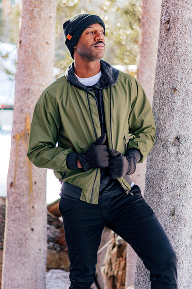Terrance Olive Athletic Bomber - Identity Boutique