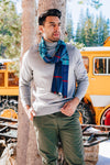 Teal Checkered Scarf