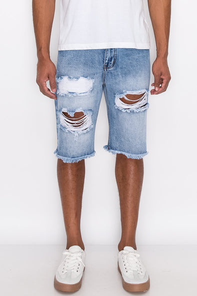 Vibin' Distressed Shorts