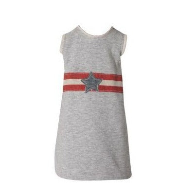 Maxi Grey T Shirt with Star Detail