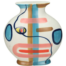 Load image into Gallery viewer, Round Multicoloured Street Art Vase