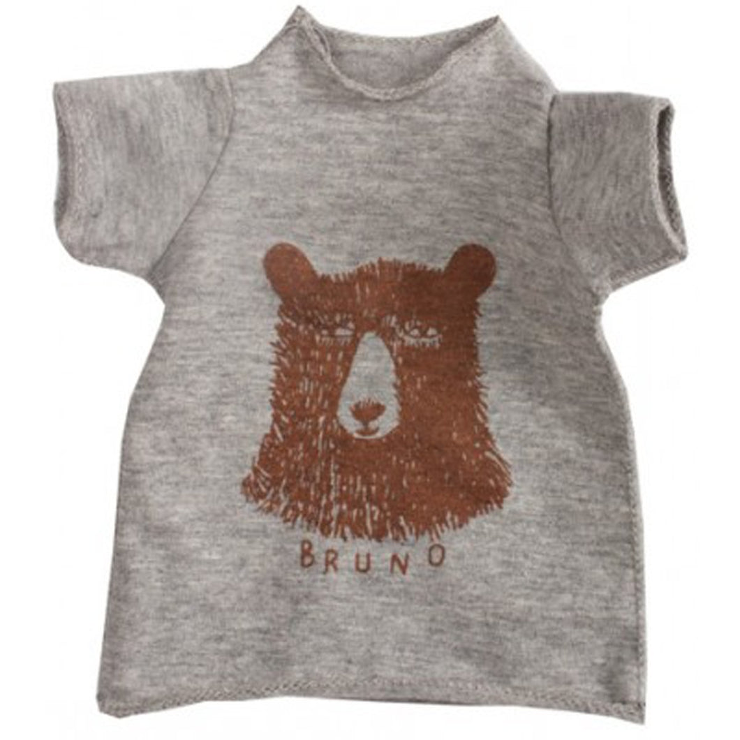 Maxi Grey T-shirts with Bruno Bear Design